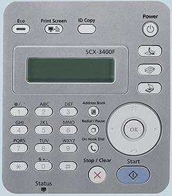 печать отчёта SCX-3400F 3405F 3405FW